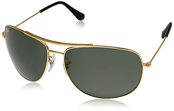 ea3ad33f802a8e Ray-Ban UV Protected Aviator Men s Sunglasses - (0RB3412I00163 63 Crystal  Green