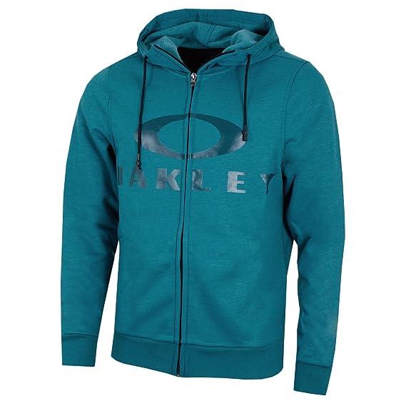3858f343 Oakley Mens 2018 Bark FZ Hoodie - Blue Coral - M: Amazon.co.uk: Clothing