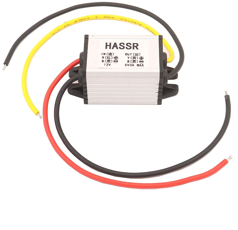 HASSR DC Buck Volt Converter 12V to 6V 3A ,DC-DC 8-22V //15W Car Auto Vehicle Power Supply Module Step-Down Volt Regulator Inverter Board (Waterproof:IP67) /(Waterproof/:IP67/) DC04 5558978522