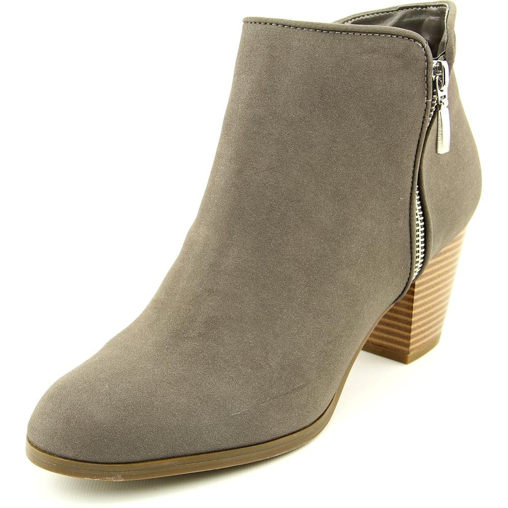 Style & Co. Womens Jamila Leather Almond Toe Ankle Fashion Boots Gris Size 8.0