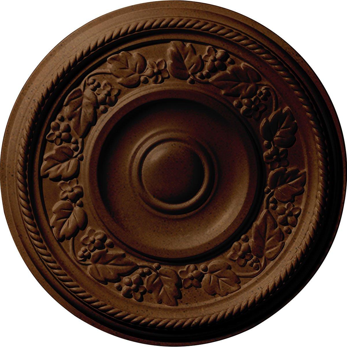 Ekena Millwork CM16TYRZS Tyrone Ceiling Medallion, Rubbed Bronze