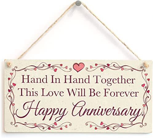 Anniversario Di Matrimonio Lingua Inglese.Hand In Hand Together This Love Will Be Forever Happy Anniversary