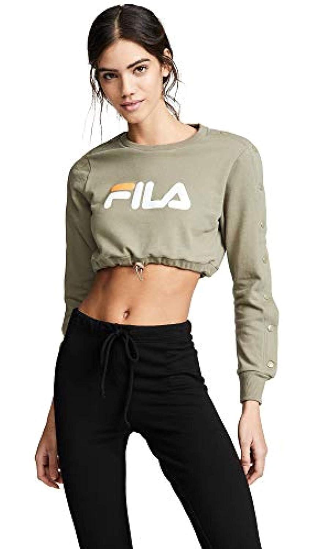 582fafcb Fila Women's Charlotte Crop Sweatshirt at Amazon Women's Clothing store: