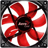 Aerocool 12cm Lightning Series Transparent LED Fan - Red
