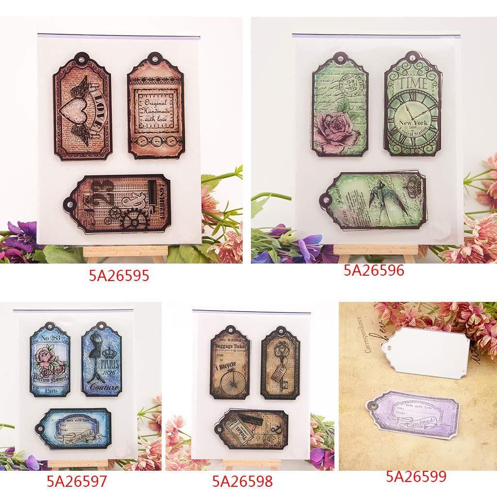 1 sello transparente para /álbum de fotos transparente de silicona BouT