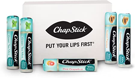 ChapStick 100% Natural Lip Butter Collection, Made with 100% Naturally Sourced Ingredients (Contains 5 ChapStick Lip Balms)