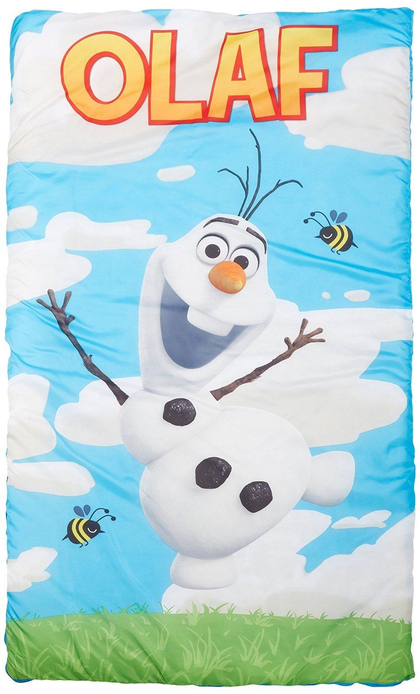 30 X 54 Inch Pink Color Sleeping Bag BLUE Frozen Olaf Quilted Slumber bag SVP Best Gift for Kids Children