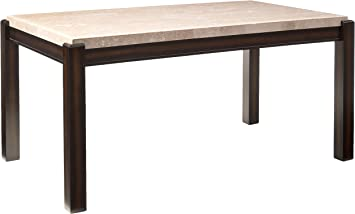 Amazon Com Furniture Of America Minna Contemporary Marble Dining Table Tables