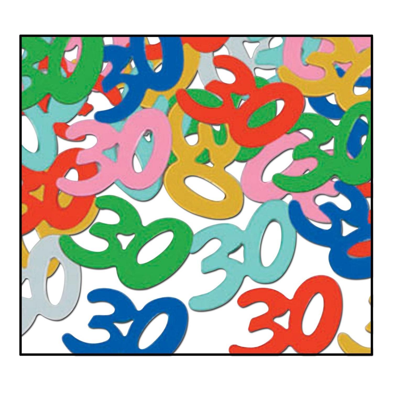 Party Central Club Pack of 12 Multi-Colored Fanci-Fetti 30'' Celebration Confetti Bags 0.5 oz.