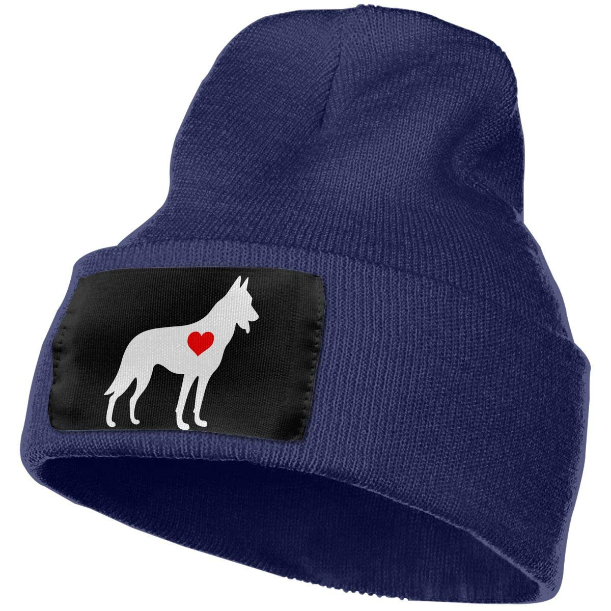 German Shepherd Heart-1 Men /& Women Knit Hats Stretchy /& Soft Beanie Cap Hat Beanie