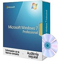 Windows 7 Professional espaniol, DVD-Tralion DVD 64 bit. incluyendo documentos seguros de auditoría