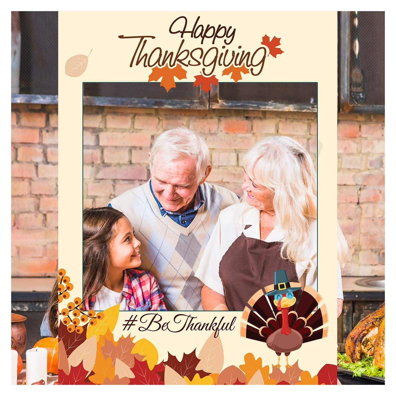 New Thanksgiving Dinner Party Backdrop Turkey Day Background 7x5ft Photo Booth Studio Props 1111