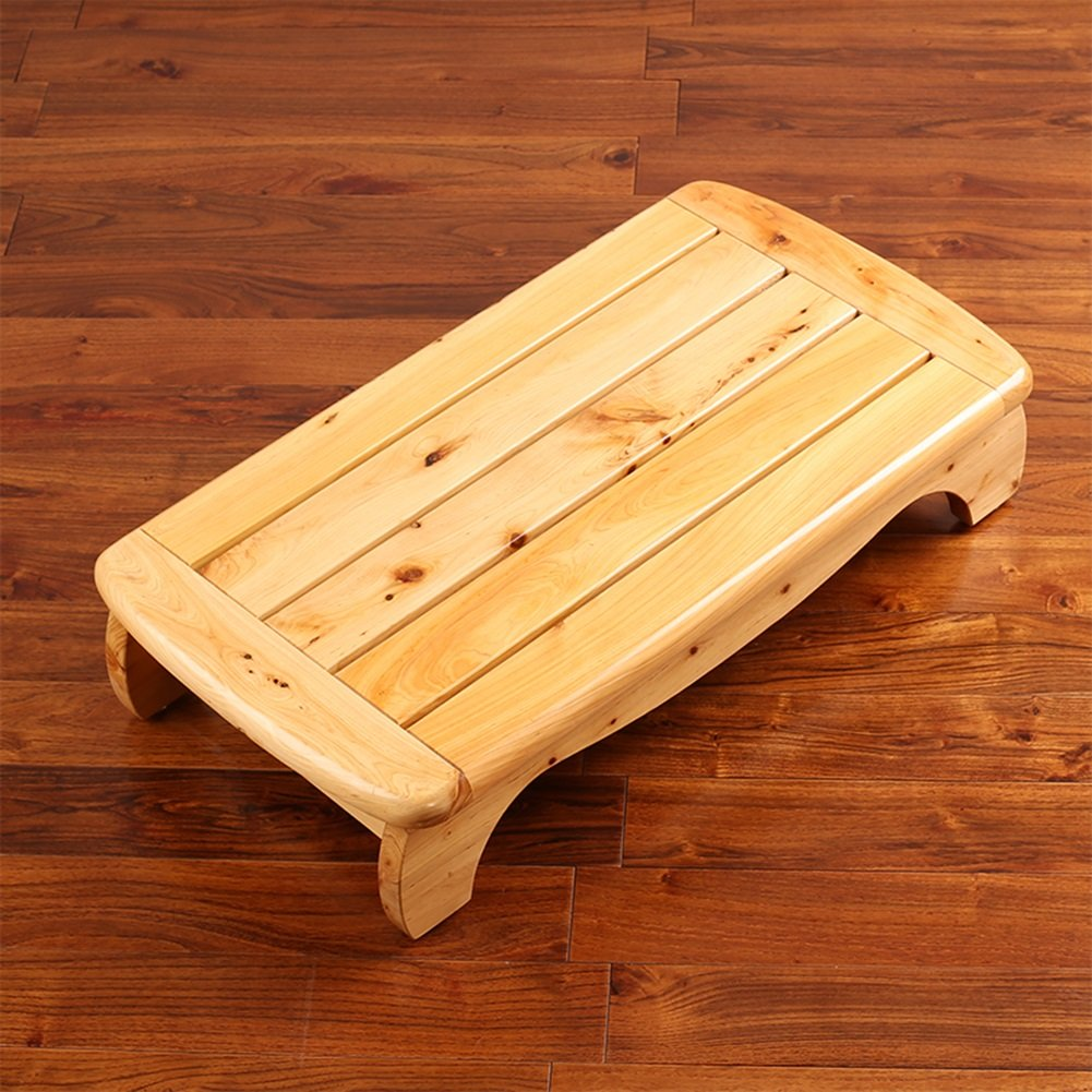 1ステップスツールベッドフットスツールソリッドウッドベッドサイドロースツールウッドペダルバスルームウッドマットノンスリップソファフットレストスツール (色 : 木の色) B07D7S3RMH 木の色 木の色