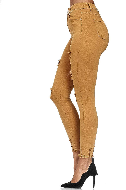 Jeans da Donna Elara High Waist Destroyed Chunkyrayan