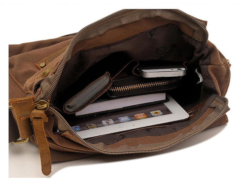 Vere Gloria Messenger Bag,Vintage Canvas Shoulder Crossbody Bag for Everyday Use