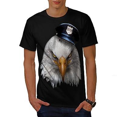a62f017abd5 Wellcoda Eagle Police Cop Animal Mens T-Shirt