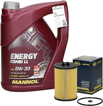 Inspektionspaket Wartungspaket Filterset 1 X Ölfilter 1 X Ölablassschraube 1 X 5l Mannol Motoröl Energy Combi Ll 1 X Ölwechselanhänger Auto