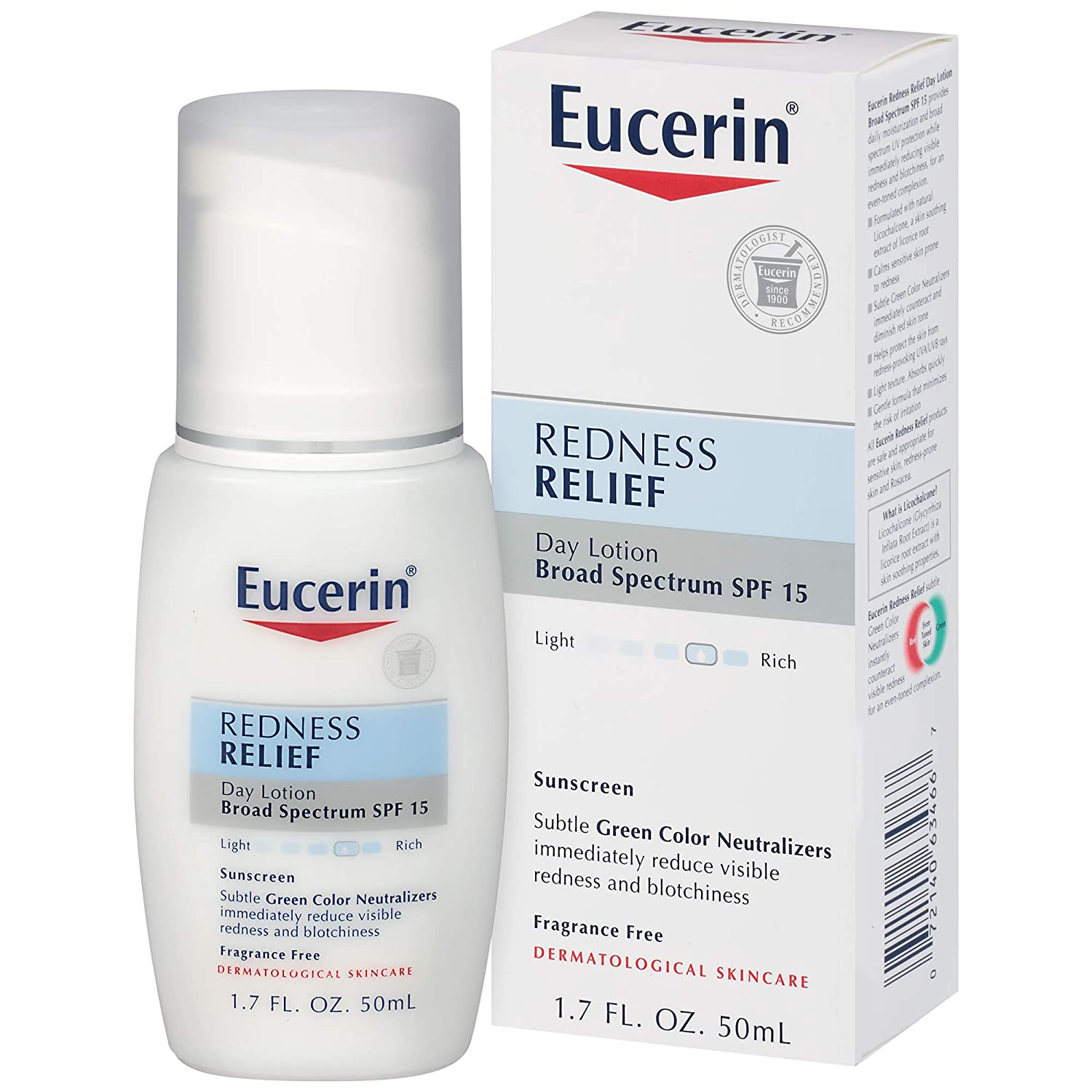 Eucerin Redness Relief Day Lotion Broad Spectrum SPF 15 1.7 Fluid Ounce BEIERSDORF 969535