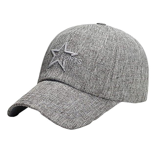 5a147ed10ad Kerr Kellogg 2019 Fashion Summer Caps Women Adjustable Baseball Hat Letter  Embroidery Unisex Hip-Hop Cap Gray at Amazon Women s Clothing store