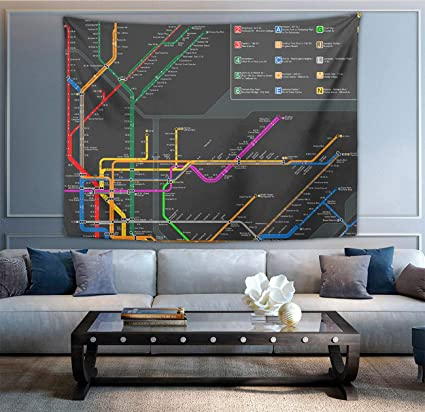 Subway Map Tapestry.Amazon Com New York Subway Map Tapestry Beautiful Wall Hanging