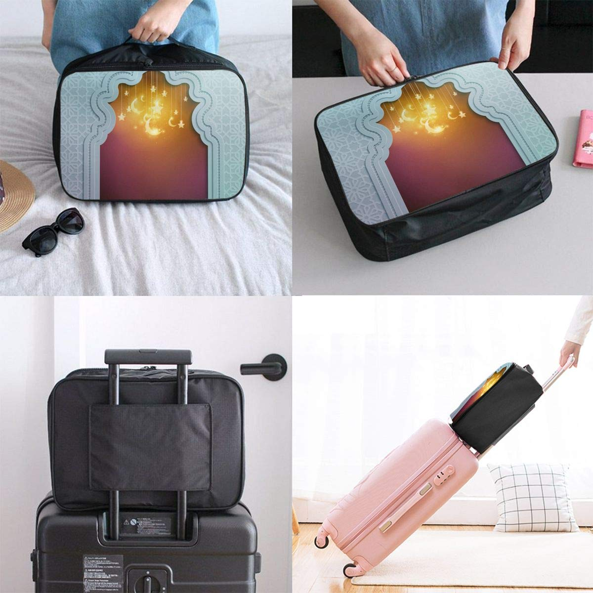 The Arab League is The Same As The Dream Canvas Travel Weekender Bag,Fashion Custom Lightweight Large Capacity Portable Luggage Bag,Suitcase Trolley Bag