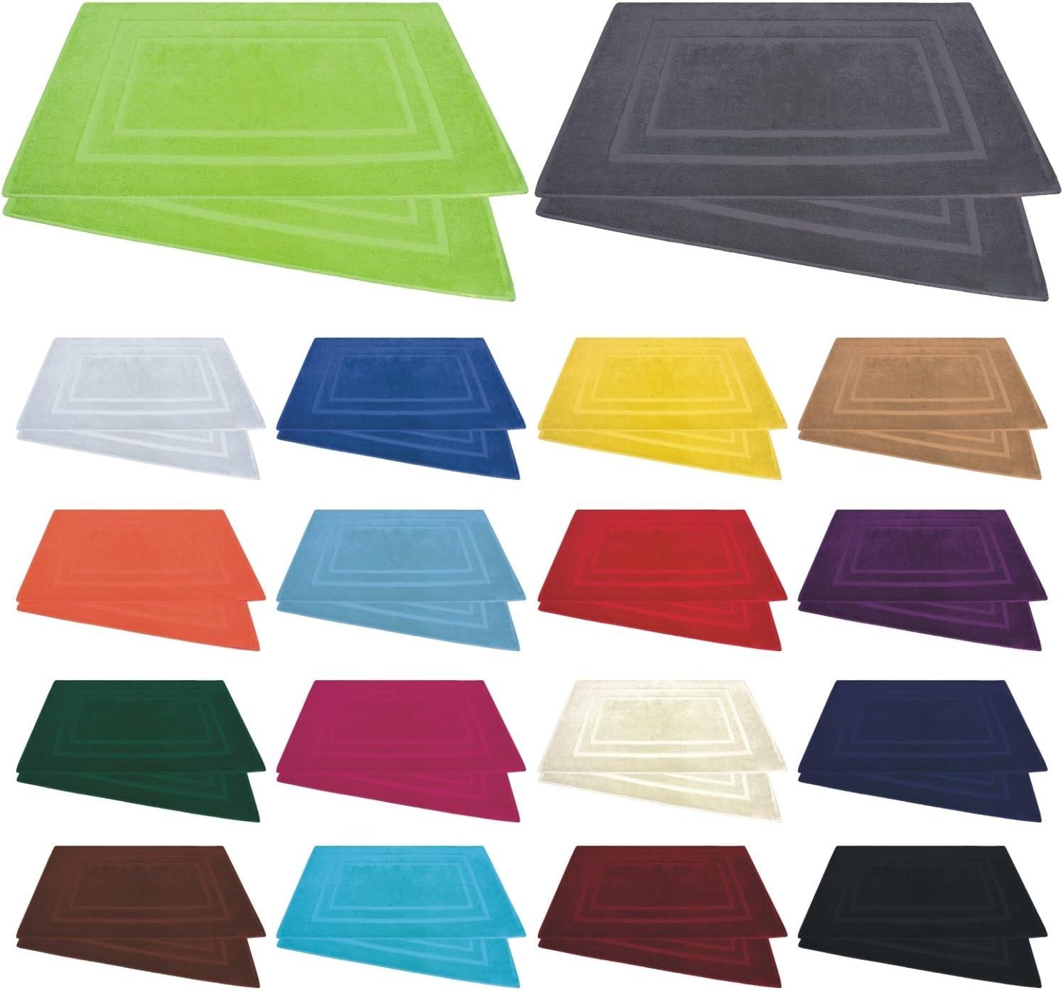 100/% algod/ón /Algod/ón 800/g//m/²/ Alfombrilla de ba/ño/ /50/x 80/cm /en muchos colores/ 2 unidades /Pack de 2 // 4/unidades/ burdeos