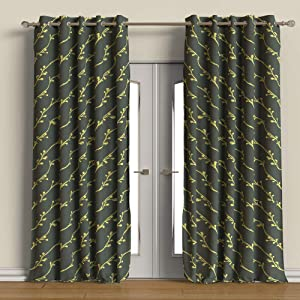 Buy Rainforest Italy Modern Printed Den Blackout Curtain Set Of 2