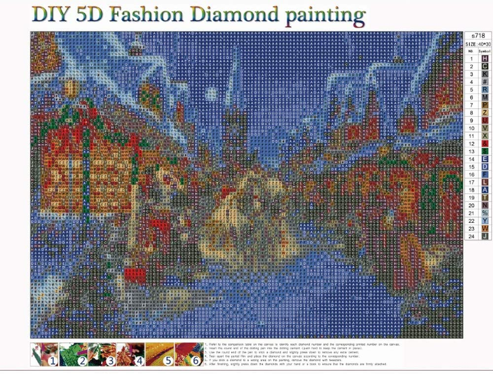 HHmei 5D Embroidery Paintings Rhinestone Pasted DIY Diamond Painting Cross Stitch Decorations Outdoor Tree Table Lights Blue Home Set Silver Wall Ornaments Place Cards E