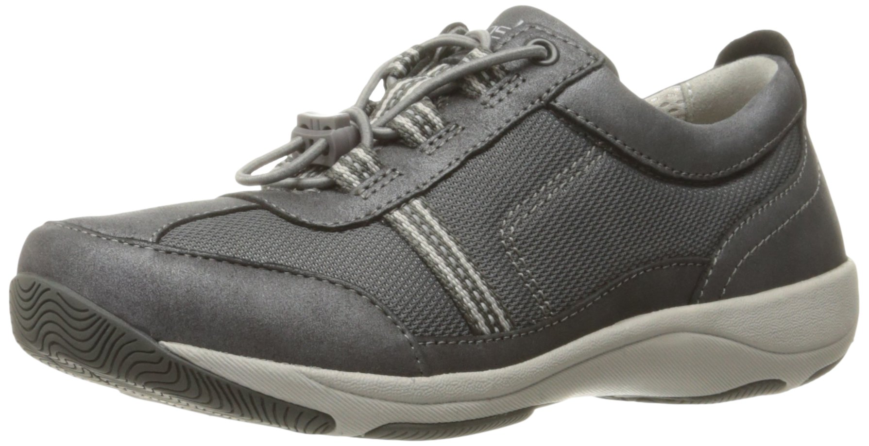 Dansko Women's Helen Fashion Sneaker, Charcoal/Metallic Suede, 38 EU/7.5-8 M US