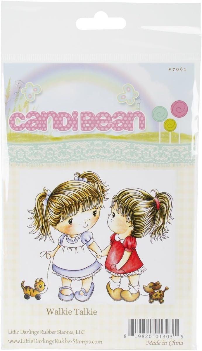 Multicolour 0.38x10.16x17.14 cm Acrylic Little Darlings Candibean Cling Stamp 4 x 7-inch Walkie Talkies