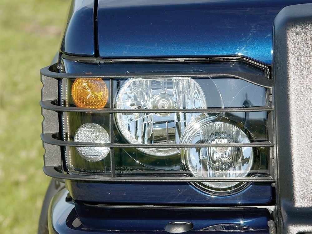 LAND ROVER DISCOVERY 2 2003 - 2004 FRONT LIGHTS GUARD SET - OE PART# STC53193