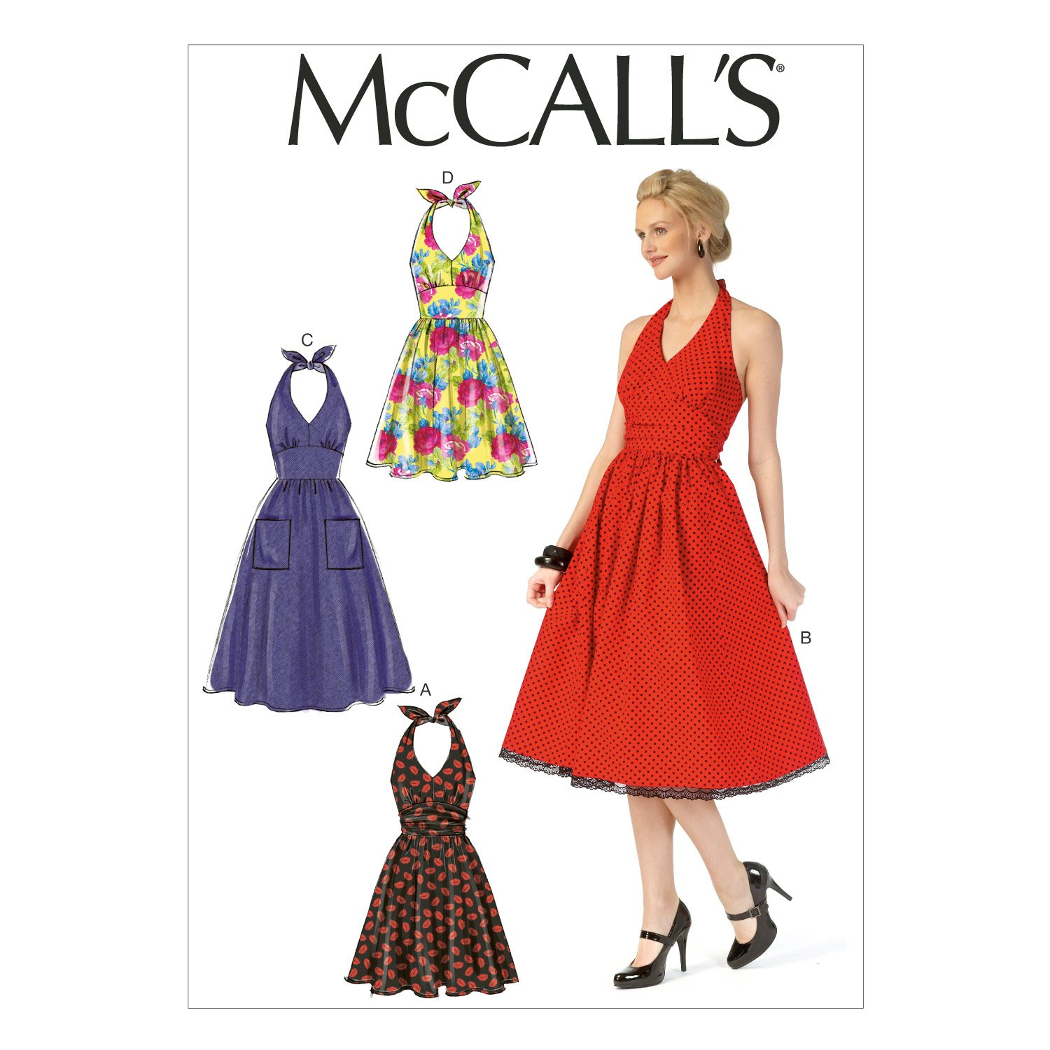 Amazon.com: McCall\'s Patterns M7157 Misses\' Dresses Sewing Template ...
