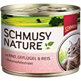 Schmusy Katzenfutter Rind & Geflügel 190 g, 12er Pack (12 x 190 g)