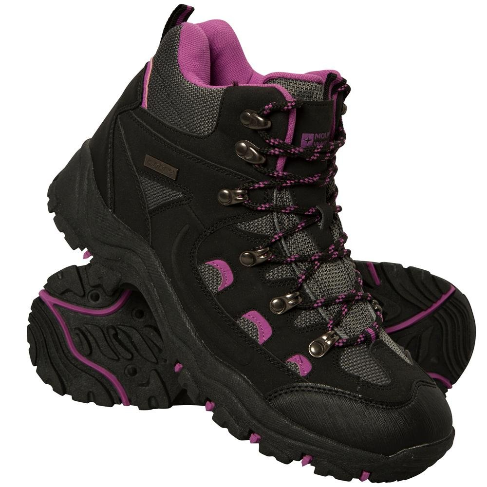 Mountain Warehouse Adventurer Womens Boots - Ladies Summer Shoes Black 7 M US Women