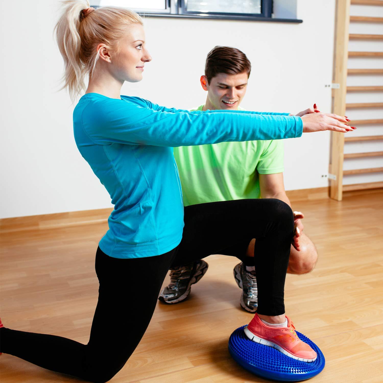 Sport Luftkissen Sitzen inkl Balancekissen Noppenkissen Rund /Φ33cm Balancetraining Sitzen f/ür den Alltag BZW Reehut Ballsitzkissen mit Noppen Luftpumpe