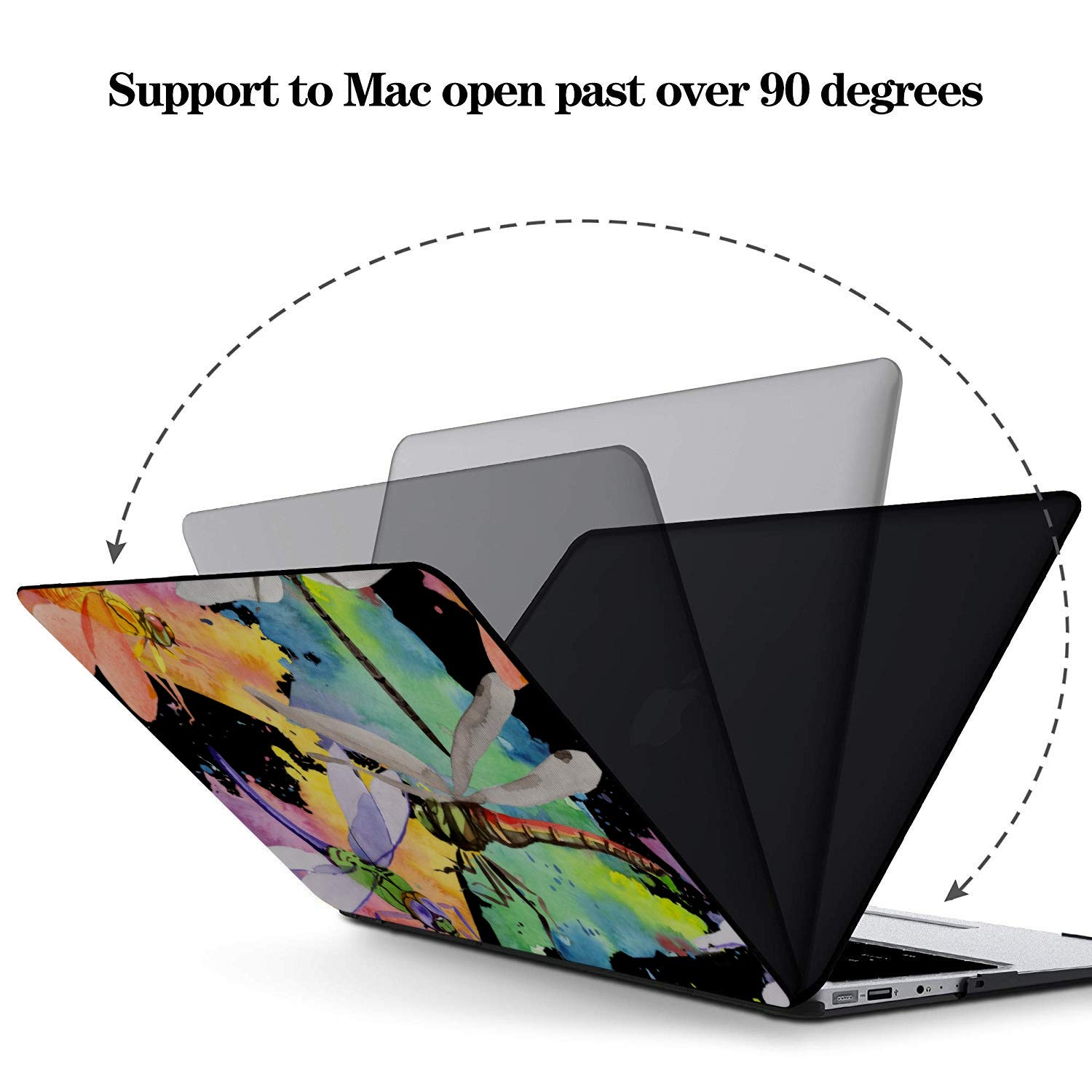 Air Case Summer Reptile Cartoon Mosquito Insect Plastic Hard Shell Compatible Mac Air 11 Pro 13 15 Mac Book Accessories Protection for MacBook 2016-2019 Version