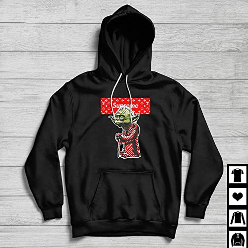 best amazing quality half price Supreme x Louis Vuitton YODA Fan Gift T-Shirt Hoodie - Black