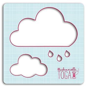 Mademoiselle Toga Nubes Plantilla, algodón, 12,5 x 12,5 x 0 ...