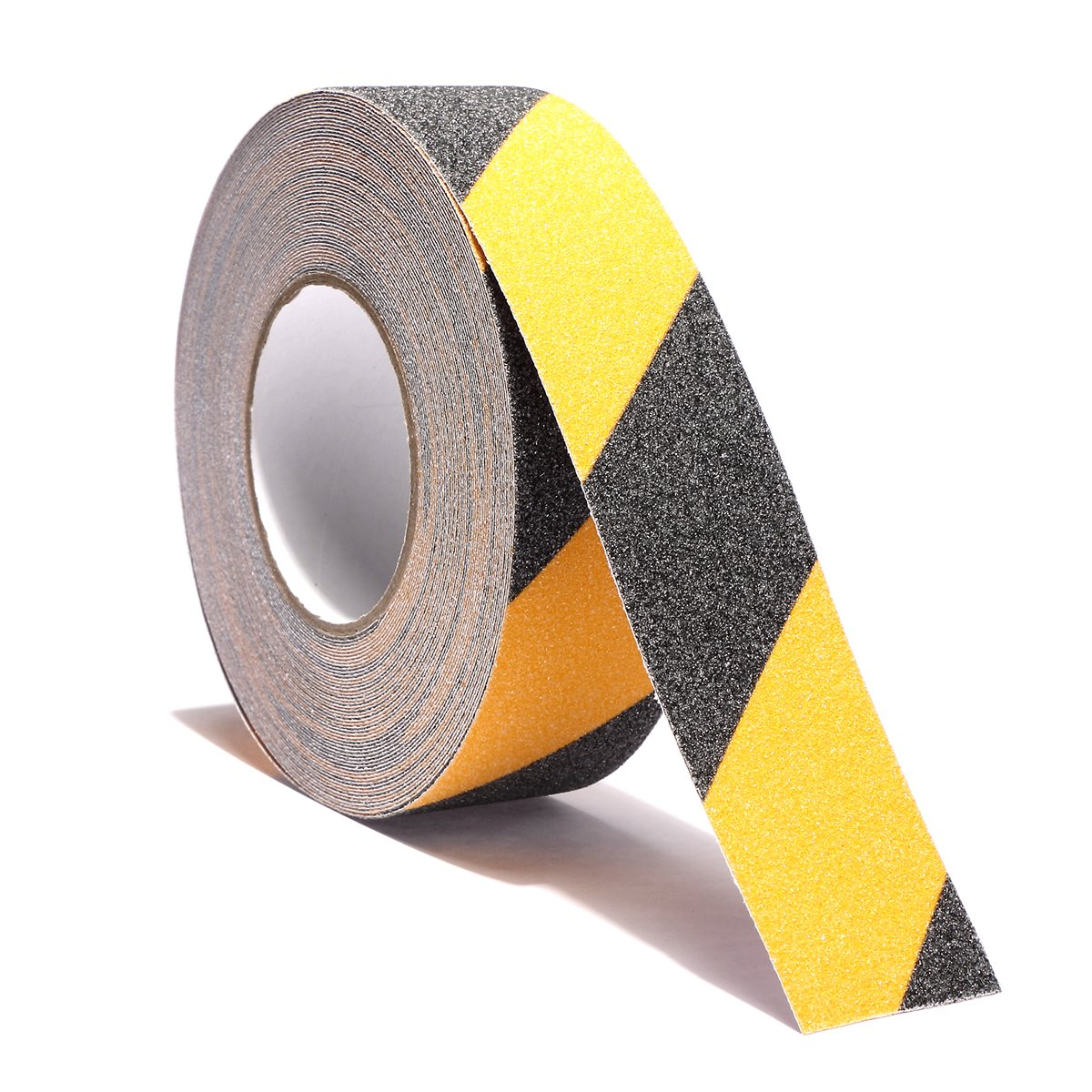 Non Slip Safety Grip Tape for Stairs Steps 2 Inch X 60 Foot - Indoor Outdoor Non Skid Tread High Traction Friction Friction Abrasive Adhesive Tape Yellow And Black