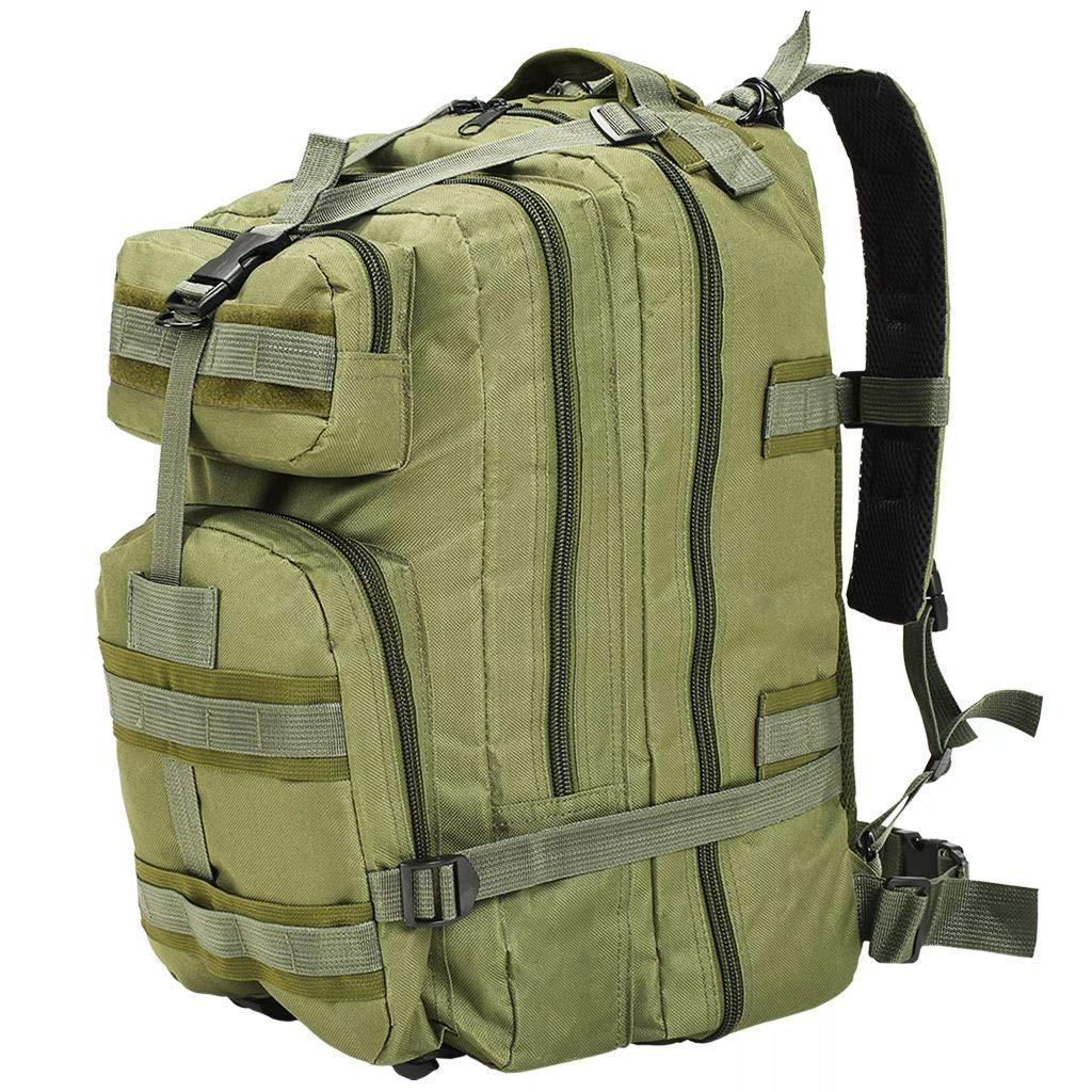 20ac495c0a vidaXL Sac à Dos en Style Militaire 50 L Noir Sac de Randonnée Camping  Chasse: Amazon.fr: Bagages