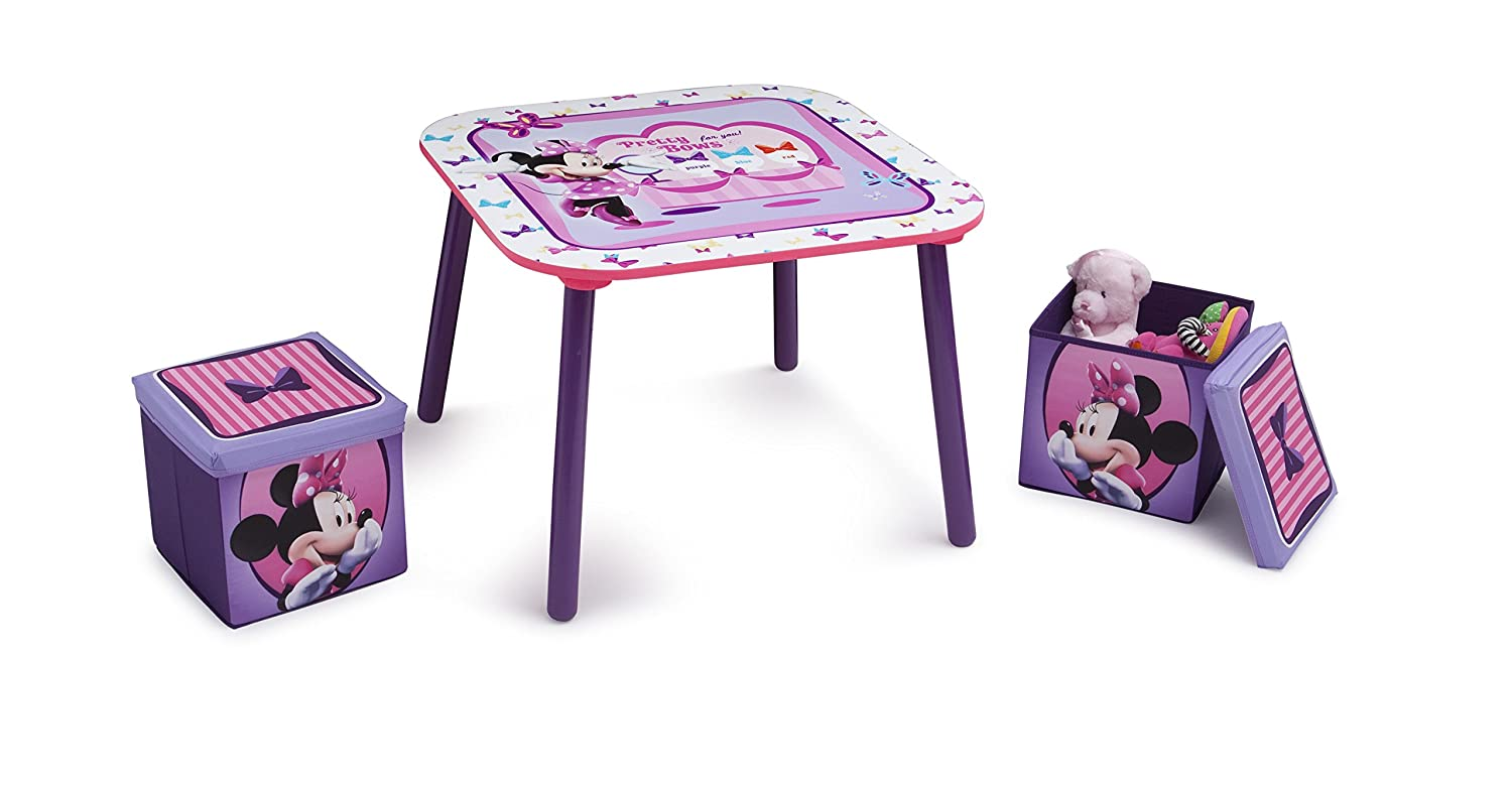 Phenomenal Disney Minnie Mouse Kids Table Ottoman Set Pdpeps Interior Chair Design Pdpepsorg