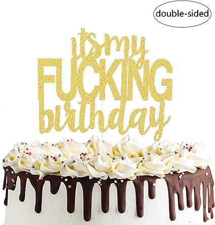 Astounding Amazon Com Its My Birthday Cake Topper Funny Happy Birthday Personalised Birthday Cards Vishlily Jamesorg