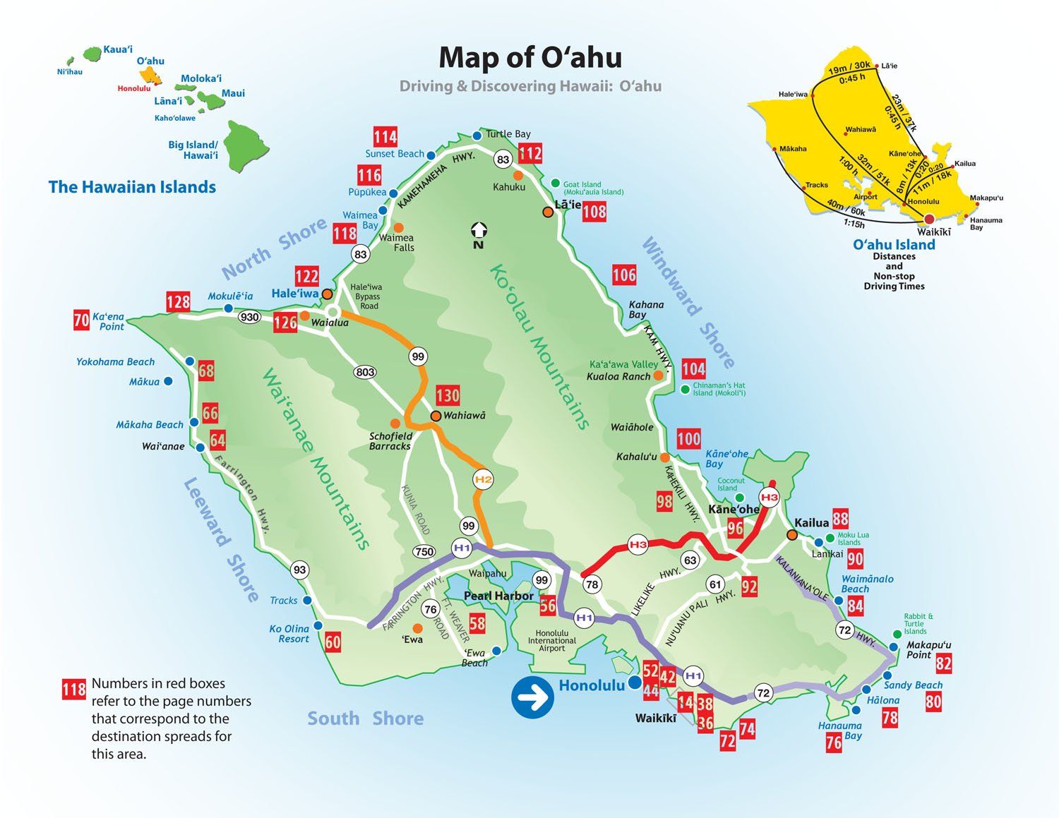 Driving and Discovering Hawaii Oahu Honolulu and Waikiki – Tourist Map Of Oahu