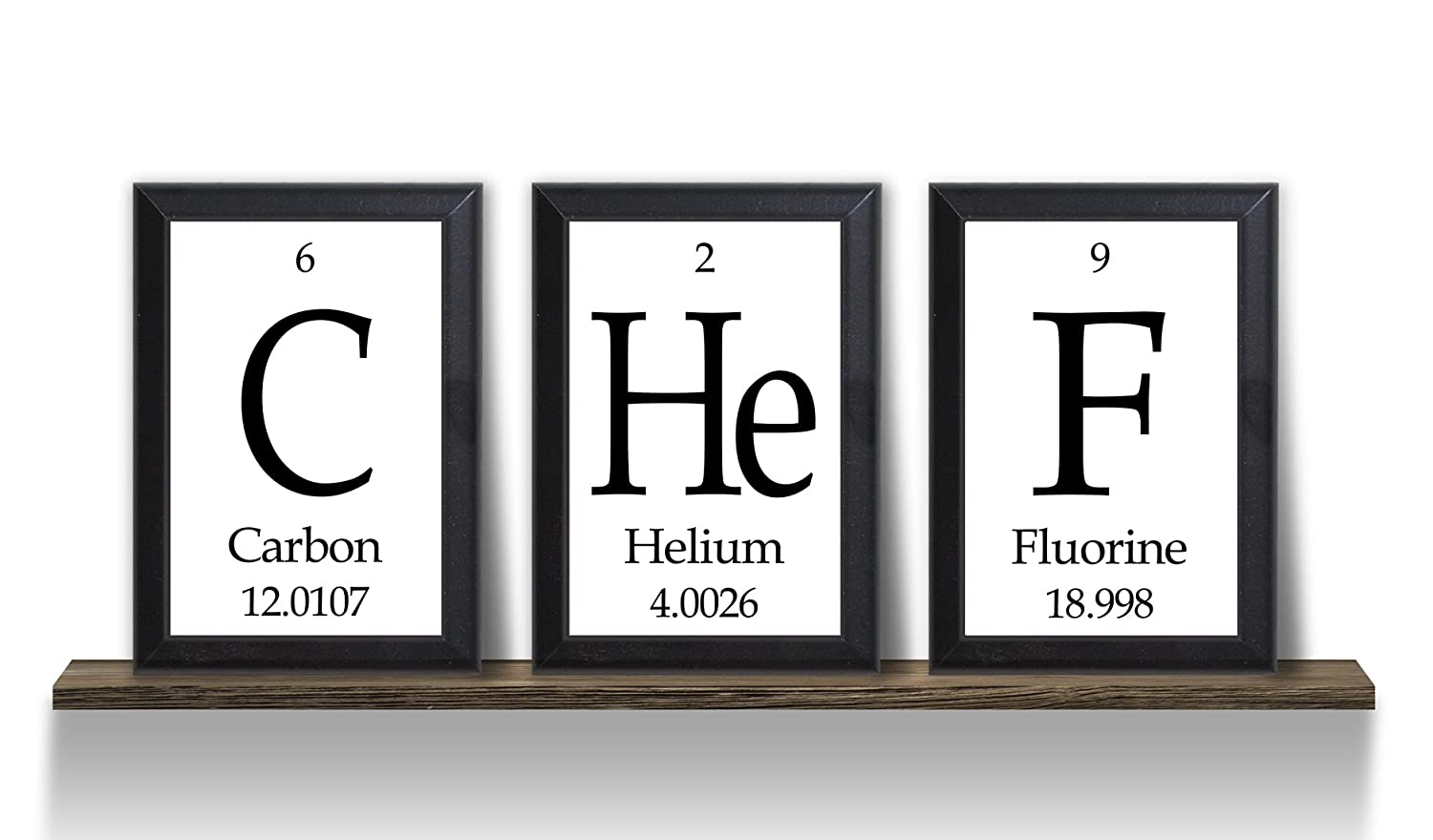 Amazon chef periodic table of elements plaques science amazon chef periodic table of elements plaques science geeky kitchen wall art 3 pc set home kitchen gamestrikefo Images