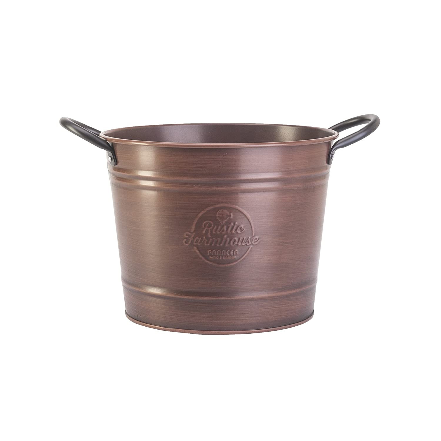 8 Washtub Planter, Copper Colored Finish