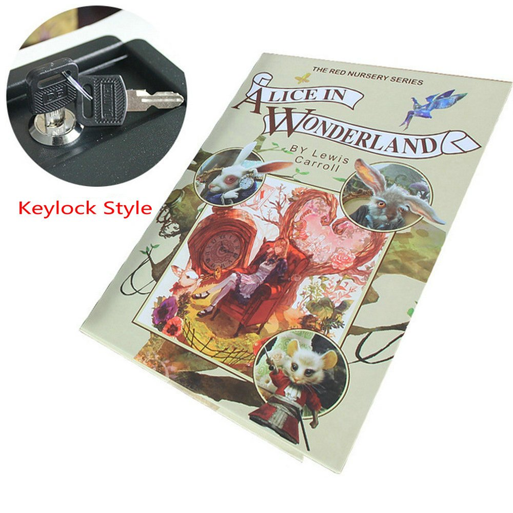 Dictionary Book Money Jewellery Hidden Secret Safe Locker Box Password KeyLock (Keylock Style, alice wonderland) BEESS