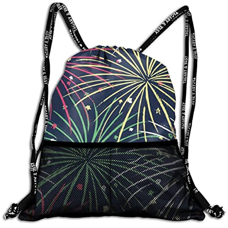 13bc81e43b1e Amazon.com: Bloom Time Unisex Drawstring Bag Classic Gym Bags ...