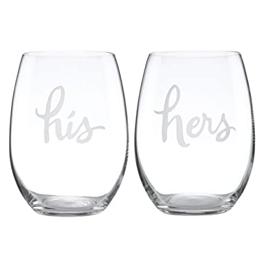kate spade new york Two Of A Kind His & Hers Stemless Wine - Clear