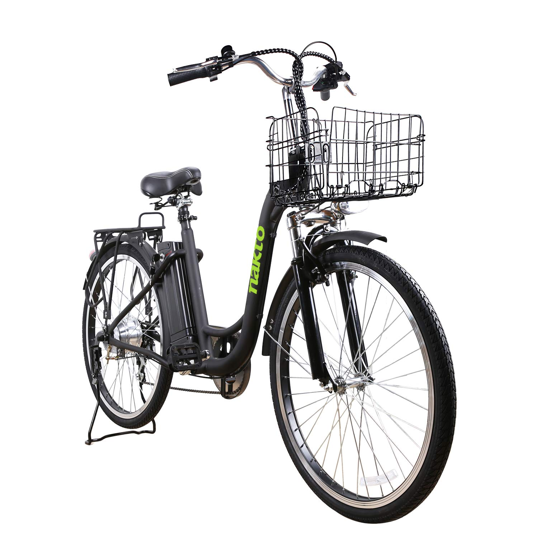Amazon.com: Nakto - Bicicleta eléctrica de 26 pulgadas para ...