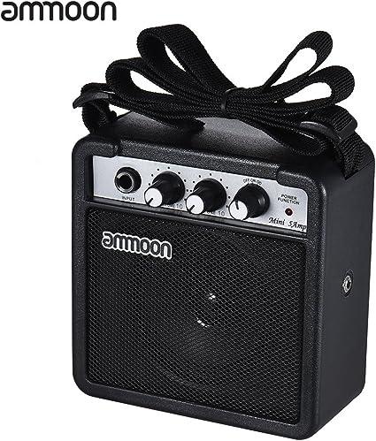 Ammoon amplificador de altavoz para guitarra acústica/eléctrica ...